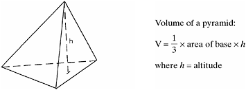 solid mensuration of pyramids We will work with regular pyramids, in which the triangular sides are congruent and the base is a regular polygon in order to solve problems which require application of the volume and.