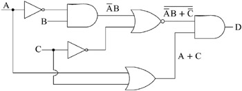 obtaining boolean expressions from logic diagrams    figure     outputs of the gates of logic diagram for example